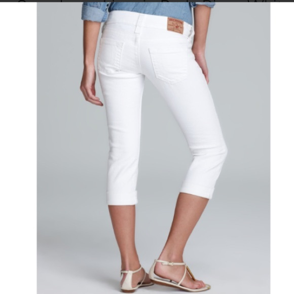 85% off True Religion Denim - SALE! True Religion Lizzy Crop White ...