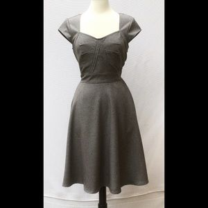 New Eshakti Gray Fit & Flare Dress 10