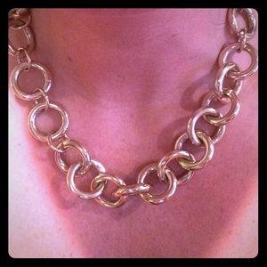 J.Crew Gold Statement necklace 😍😍