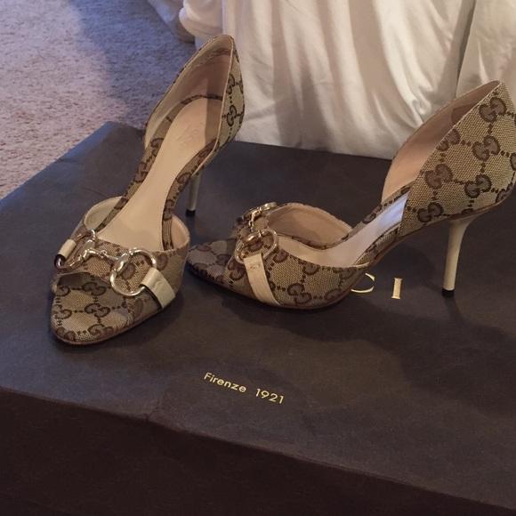 9aff91a1f0e34 Gucci Monogram Heels