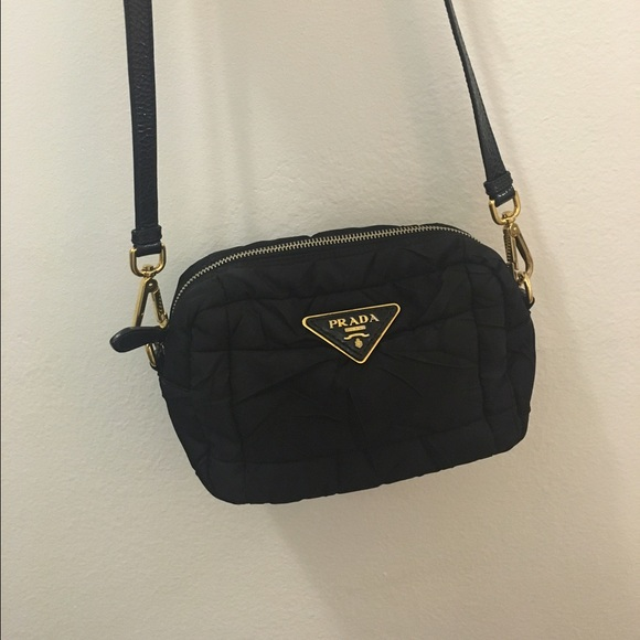 prada saffiano zip wallet - 79% off Prada Handbags - Prada Black Nylon Crossbody Camera Bag ...