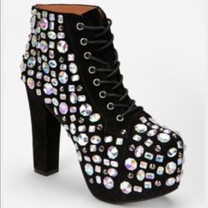 Purple Bedazzled Jeffery Campbells