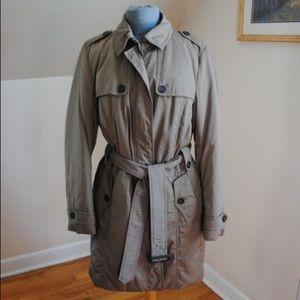 Tan Burberry Winter Trench Coat Size 16-18