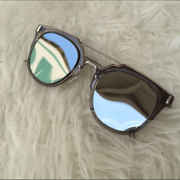 Frame Mirrored Grey Sunglasses Metal Shades OkXPZiu