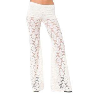 Nightcap Pants - NIGHTCAP CLOTHING Pants Bell Bottoms Festival Lace