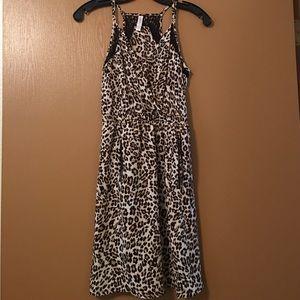 Leopard Print Mini Casual Sundress