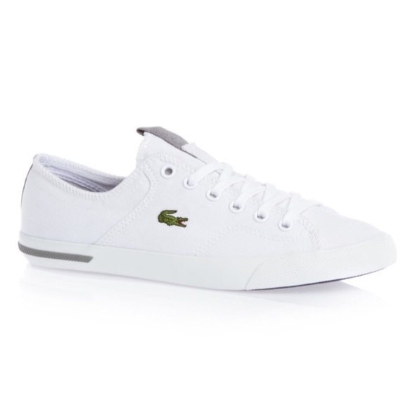 New Lacoste Ramer White Canvas Sneaker