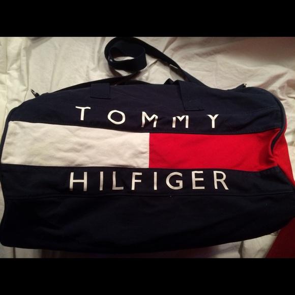 Tommy Hilfiger Red White   Blue Duffle Travel Bag.  M 570d8dec4127d0457f009565 d8657771ed1c0