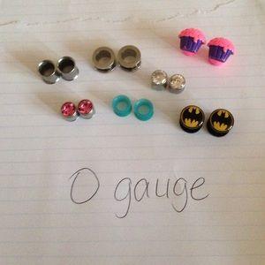 Jewelry - Size 0 gauge plugs