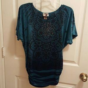 Sinquin colorful blue shirt
