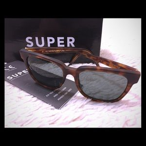 Super Sunglasses Accessories - Retro Super Future Tourtiose shell Sunglasses