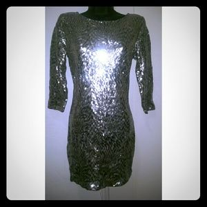 ANGL Dresses & Skirts - Angl Sequins Bodycon Dress Brand New with tags!