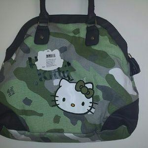 3e1bdf531a5 Hello Kitty Bags - Hello Kitty Camo Travel Bag