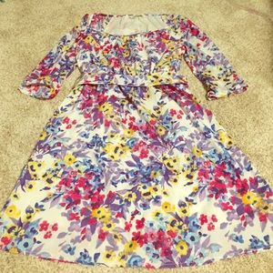 Old Navy three  quartered sleeved floral dress