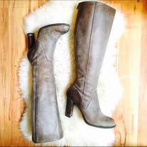 Enzo Angiolini Shoes - Enzo Angiolini Karissa Tall Heeled Distressed Boot