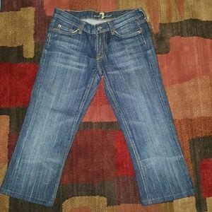 7 for all man kind capri jeans