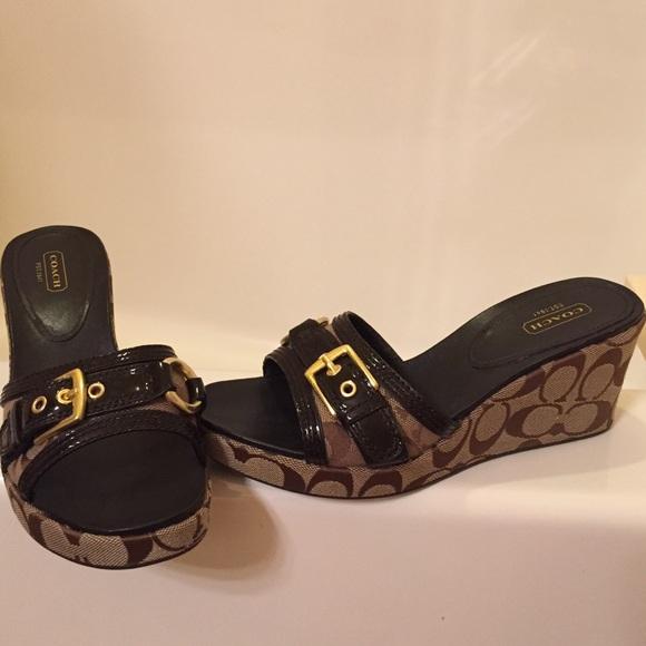 Coach Satin Slide Sandals buy cheap best prices sale recommend shop cheap top quality sale 100% guaranteed MjobMDcoI
