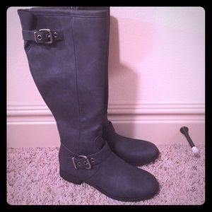 Tall gray boots! Never worn!