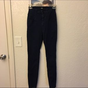 Urban Outfitters Pants - Urban Outfitters High-waisted Dark Blue Jeans