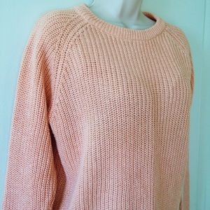 77% off Gerard Works Sweaters - Soft Light Pink Cable Knit Sweater ...