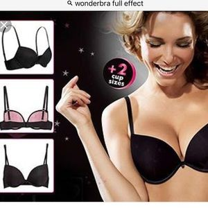 86b7ce2be3 Wonderbra Intimates   Sleepwear - Wonderbra Full Effect Bra Black 36C +2  cup sizes!