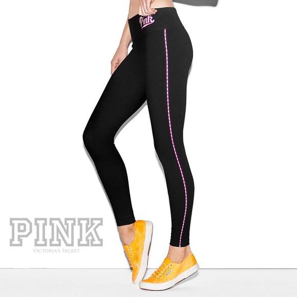 e1da88d3dbf2c VS Pink Flat Waist Yoga Leggings (Size Small)