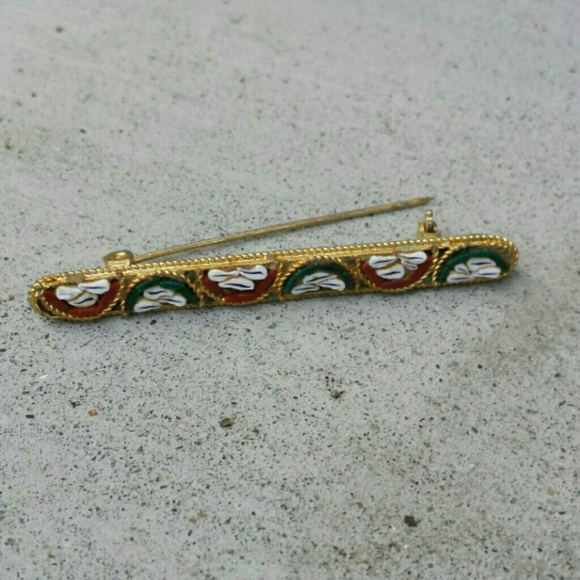 Micro Mosiac Statement Brooch Pin