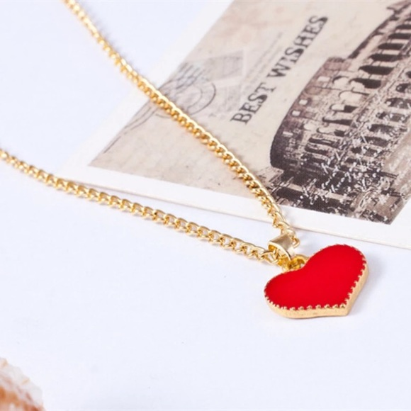 accessories the in new pendant alibaba aliexpress beautiful retro item red gifts com hot necklaces of ocean heart necklace colar from jewelry on