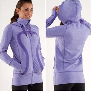 Lululemon Stride Jacket heathered purple hoodie 2