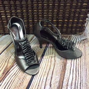 Pierre Dumas Shoes - PIERRE DUMAS DARK GRAY/PEWTER HEELS/SHOES