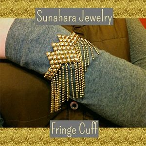 Sunahara Jewelry Jewelry - FINAL Sunahara Anthropologie Fringe Cuff Gold
