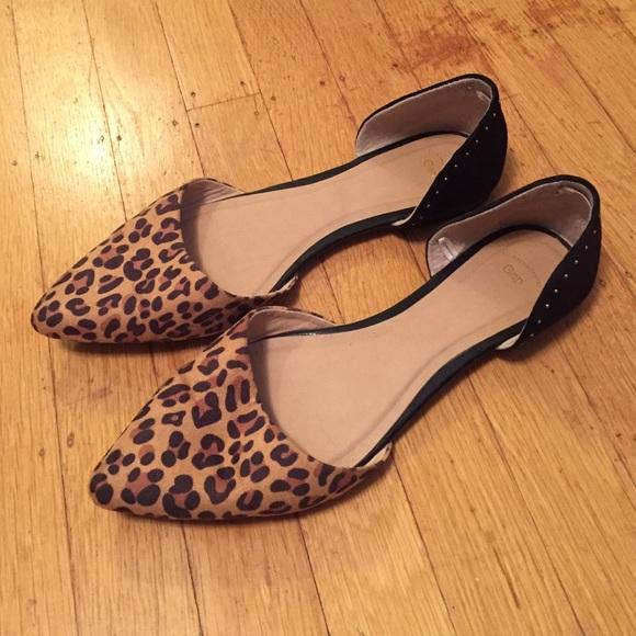 5505c6e3b0fc GAP Shoes - Gap D orsay leopard print and black studded flats