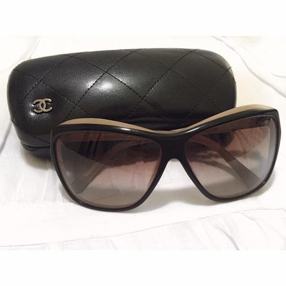 2fdbc0d7c51e CHANEL Accessories - Chanel cat eye two tone sunglasses