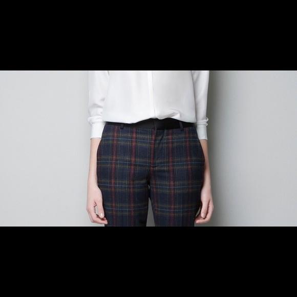 56% off Zara Pants - Zara plaid pants from Leah's closet on Poshmark