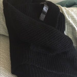 Zara black winter scarves