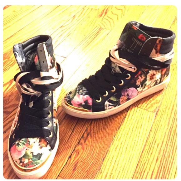 Ted Baker Floral High Top Sneakers 🌺 7a05e4a199c