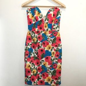 Dresses & Skirts - Brand new!! Floral body con dress, new with tags.