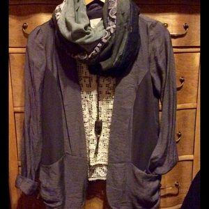 UO Silence & Noise dark gray blazer XS