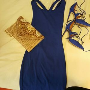 Dresses - Royal blue bodycon
