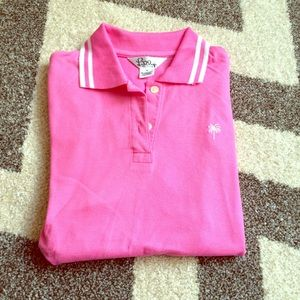 Lilly hibiscus pink polo
