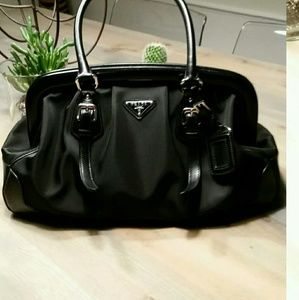 nylon prada handbags - 78% off Prada Handbags - Authentic Nero Prada Handbag from ...