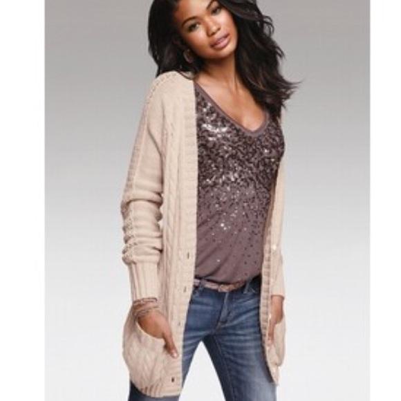 Victoria's Secret - Victoria's Secret Cable Knit Cardigan Sweater ...