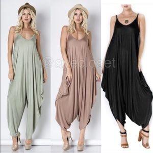 Harem Oversized jumpsuit jumper dress comfy