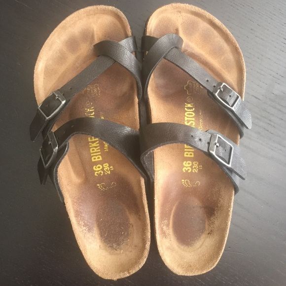 227f319313ac Birkenstock 36 N narrow grey Messina clogs mary jane iron gray leather  strap 36N