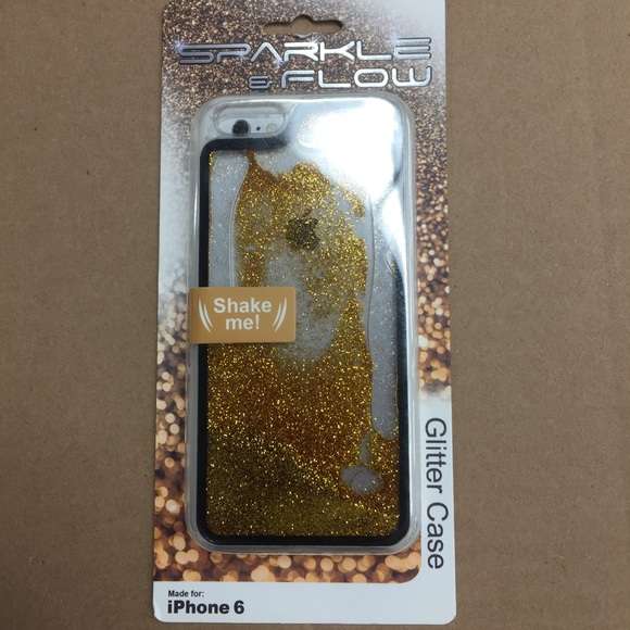 Sparkle and Flow Gold Floating Glitter Case iphon6 e08b1b1e587e