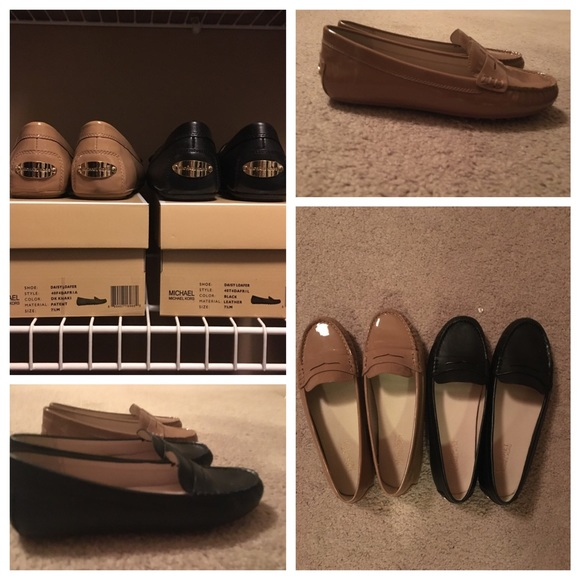 59424440e00 Michael Kors Patent Taupe Daisy Loafer 7.5