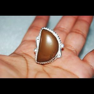 handmade & handcrafted gemstone jewelry Jewelry - ✂️SALE✂️Brown Agate Statement Ring Size 7