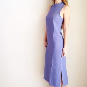 Everly Dresses - lavender midi dress