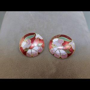 Jewelry - Vintage Cloisonné Earrings