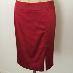 Cache red satin skirt